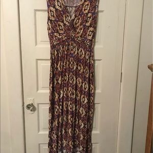Spense Woman Fun Printed Maxi Dress 1X